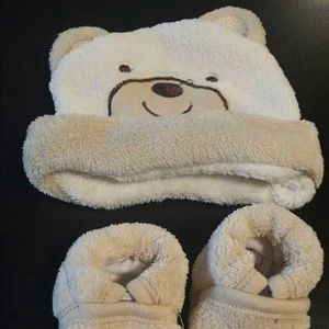 Other - Bear Hat and Booties 0-6 Months